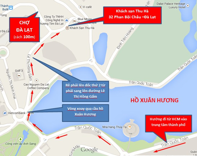 Vị trí khách sạn Thu Hà