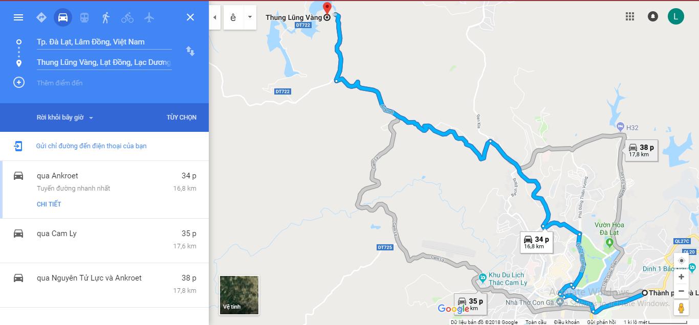 Đường đi Thng Lũng Vàng