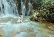 Tới thác Voi chụp ảnh cưới.