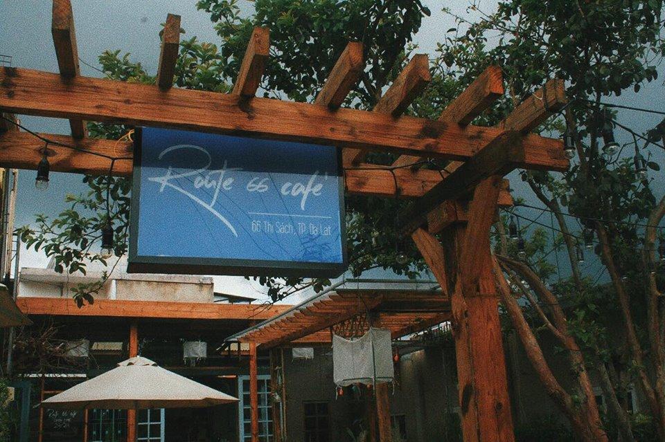 Route 66 café nằm trên con đường Thi Sách tĩnh lặng tại phường 6, TP Đà Lạt