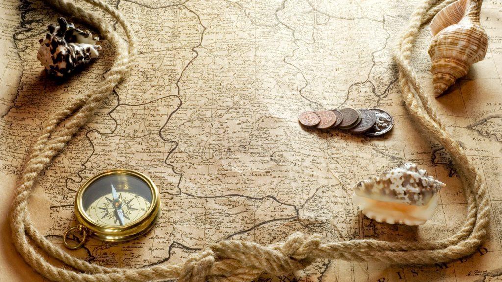 bản đồ và la bàn